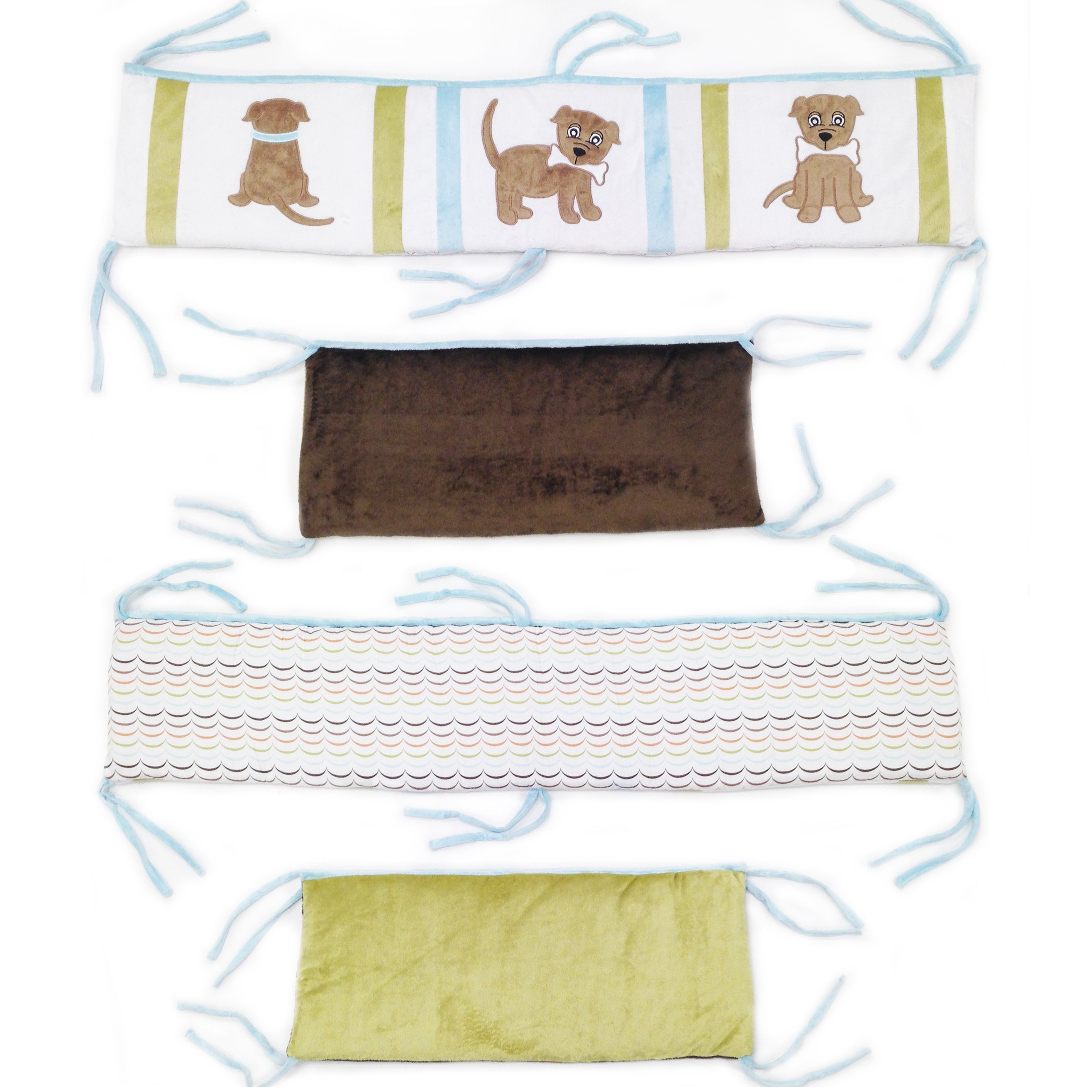 One Grace Place Puppy Pal Boy Crib Bumper-Rail Cover (Pup...