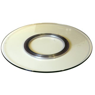 Somette 24-inch Round Glass Spinning Tray