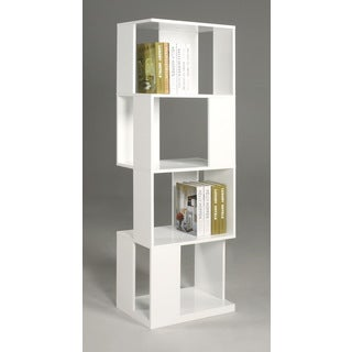 Somette Serina White Modern Open Sided Book Shelf