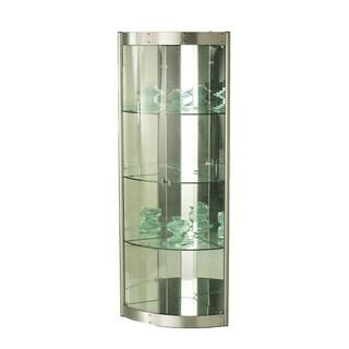 Somette Modern Silver Mirror Interior Corner Curio