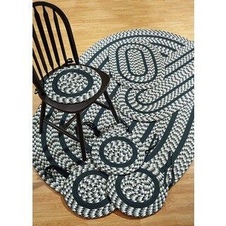 Braided Crescent Hunter Indoor/ Outdoor 7-piece Rug Set by Better Trends