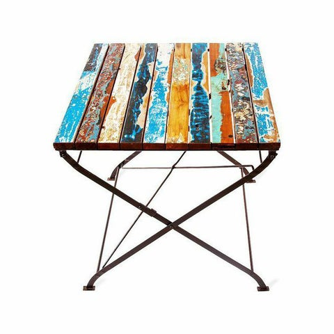 Teak for Two Reclaimed Wood Table