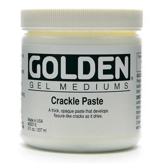 Golden Crackle Paste Medium