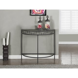 Charcoal Grey Metal 36-inch Hall Console Table