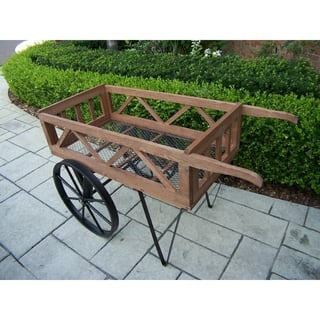 Flower Garden Wagon (Option: Black)|https://ak1.ostkcdn.com/images/products/9678545/P16857983.jpg?impolicy=medium