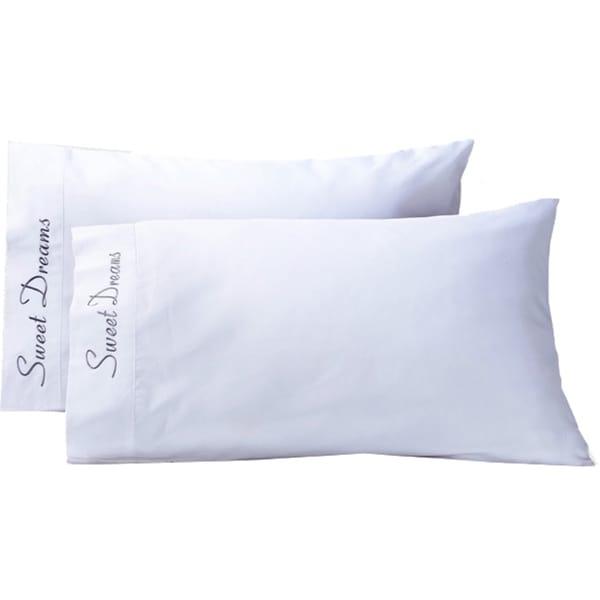 Superior Cotton 'Sweet Dreams' 500 Thread Count Pillowcase (Set of 2)