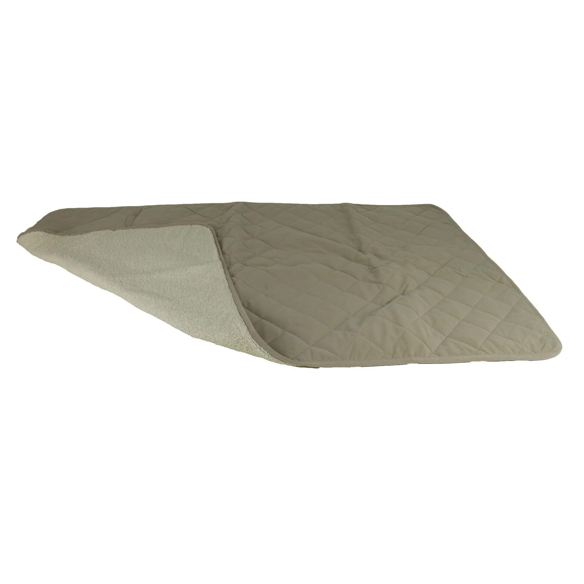 "Carolina Diamond Quilt Microfiber/Sherpa 80 x 54""-inch Pe..."