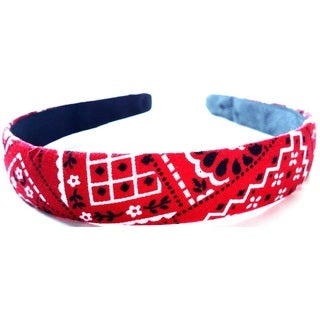 Crawford Corner Shop Red Bandanna 0.75-inch Headband