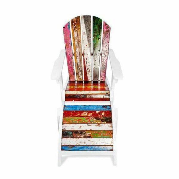 Shop Key Largo Reclaimed Wood Chaise Lounge Free