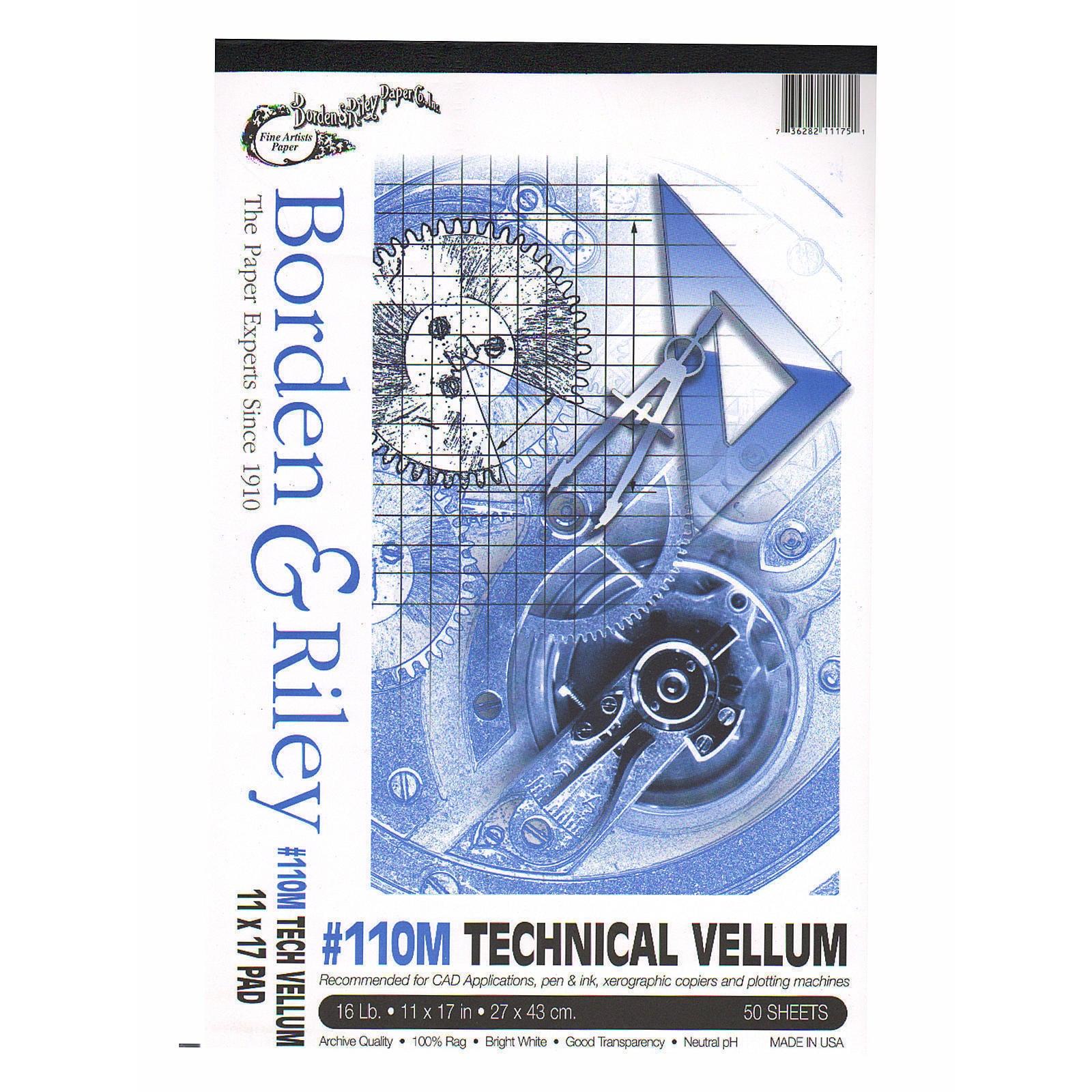 BORDEN Riley #110M Technical Vellum (24 in. x 5 yd. roll ...