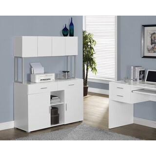White Hollow-core 48 inches Office Storage Credenza
