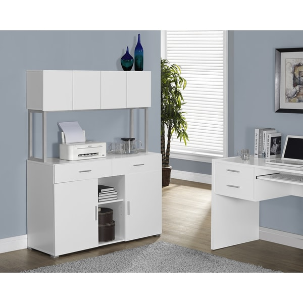 White Hollow Core 48 Inches Office Storage Credenza