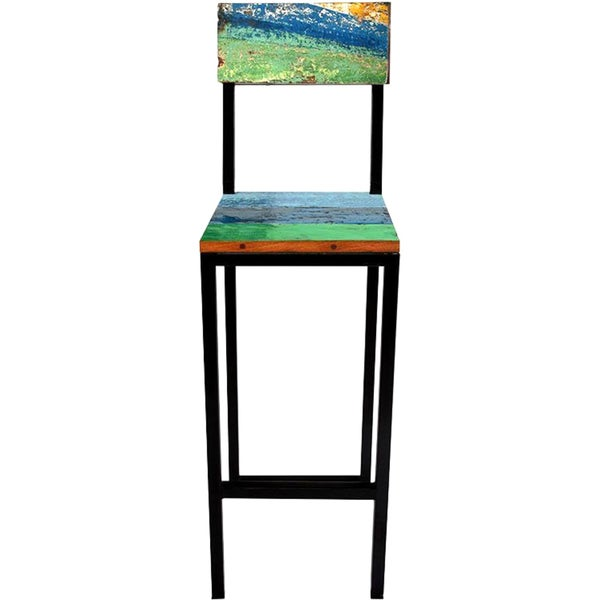 Fin and Tonic Reclaimed Wood Bar Chair