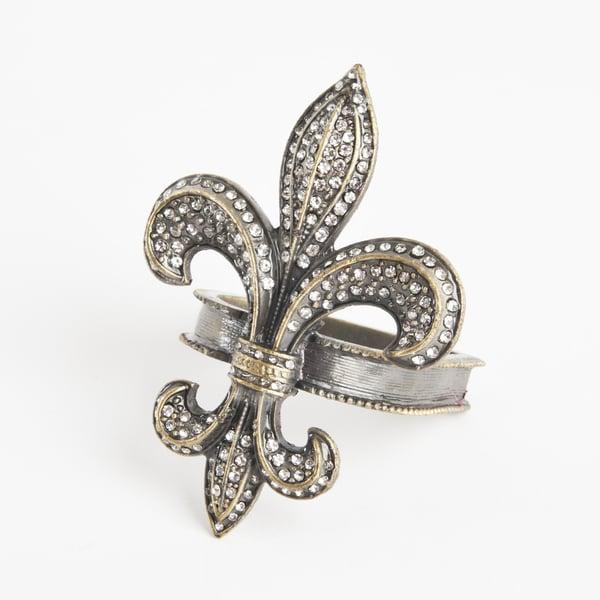 Fleur-de-Lis Design Napkin Ring (Set of 4)