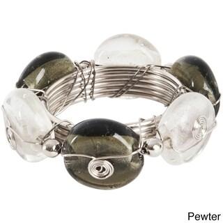 Beaded Goldtone Napkin Ring (Set of 4) (Option: PEWTER)