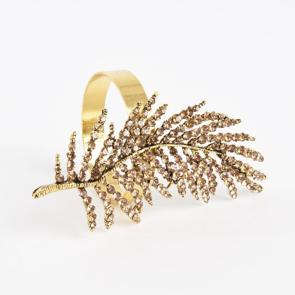 Fern Leaf Design Napkin Ring (Set of 4)