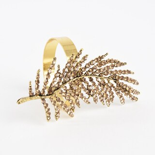 Fern Leaf Design Napkin Ring (Set of 4)