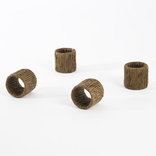 Raffia Design Napkin Ring (Set of 4)
