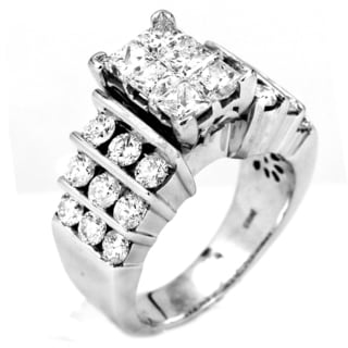 14k White Gold 2ct TDW Diamond Engagement Ring (I-J, I1-I2)