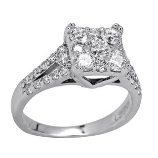 14k White Gold 1 1/4ct TDW Diamond Engagement Ring (H-I, SI3)