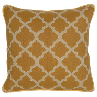 Kosas Home Rachel Geo Mustard 20-inch Decorative Throw Pillow