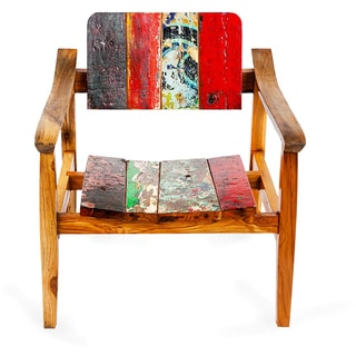 Swell Reclaimed Wood Arm Chair