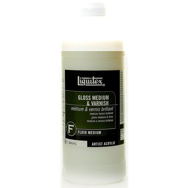 Liquitex acrylic gloss medium varnish free shipping on for Gloss medium for acrylic painting