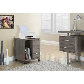 Dark Taupe Reclaimed Look 2-drawer Mobile Castor Stand