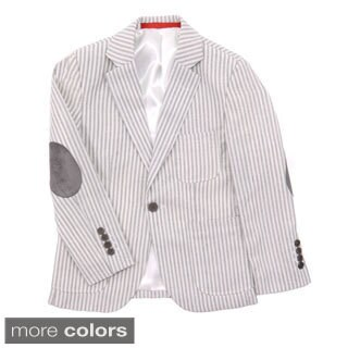 Elie Balleh Boys Slim Fit Vertical-striped Blazer