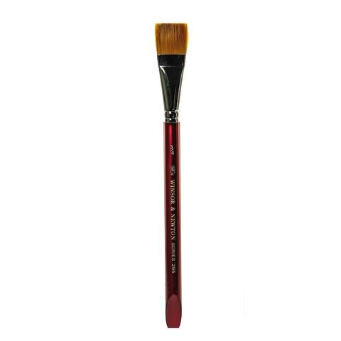 Winsor & Newton Series 295 Golden Nylon & Natural Hair Flat Brushes
