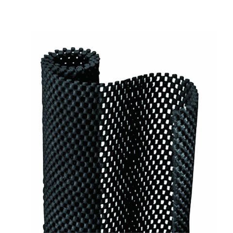 Con-Tact Brand Grip Premium Non-Adhesive Non-Slip Shelf and Drawer Liner, Black (6 Pack)