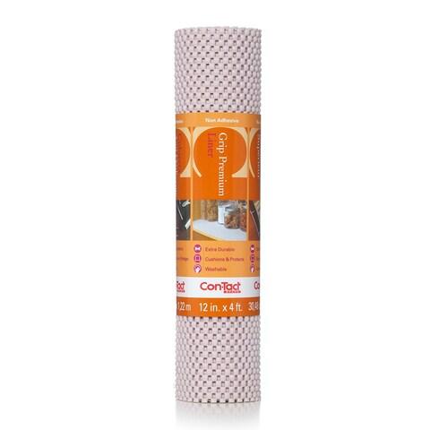 Con-Tact Brand Grip Premium Non-Adhesive Non-Slip Shelf and Drawer Liner, Bone 12 x 48-inch (6 P