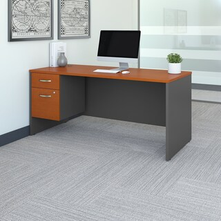 Series C 66W x 30D Office Desk with 3/4 Pedestal (3 options available)