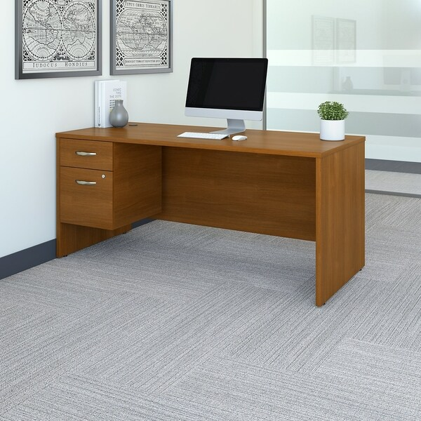 Bush Business Furniture Series C 66W X 30D Office Desk With Pedestal