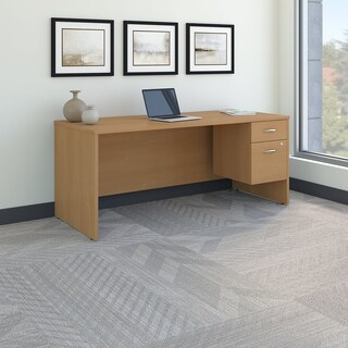 Series C 72W x 30D Office Desk with 3/4 Pedestal