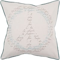 Decorative Ora Feather Down or Poly Filled 22-inch Throw Pillow