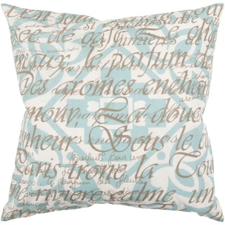 Decorative Lyne Down or Poly Filled 22-inch Throw Pillow