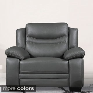 Winnie Bonded Leather Modern Arm Chair
