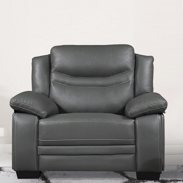 Shop Winnie Bonded Leather Modern Arm Chair Free