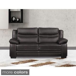 Winnie Bonded Leather Modern Loveseat