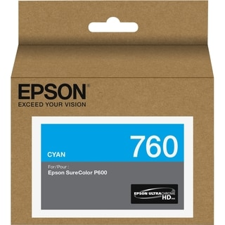 Epson UltraChrome HD T760 Original Ink Cartridge - Cyan