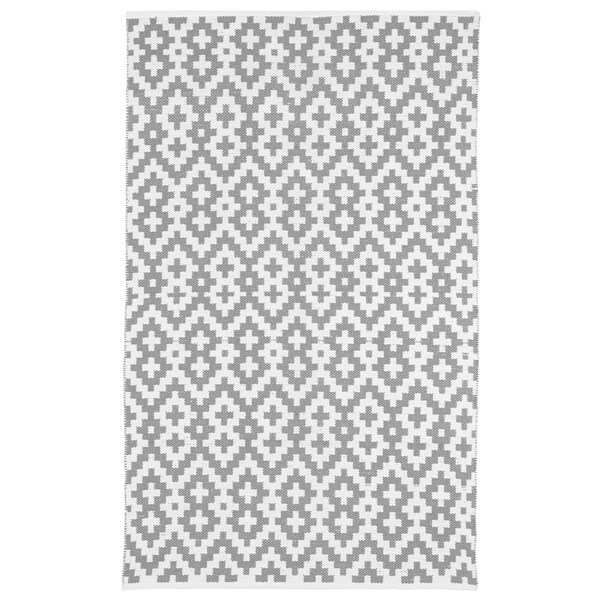 Handmade Indo Samsara Charcoal Grey and White Geometric Area Rug - 3' x 5' (India)