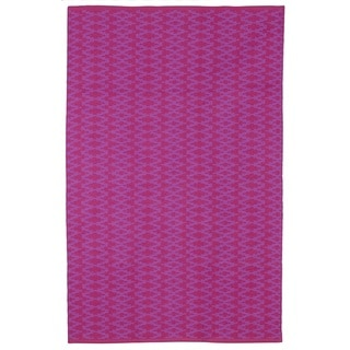 Marga Very Berry and Violet Geometric Area Rug (5' x 8')