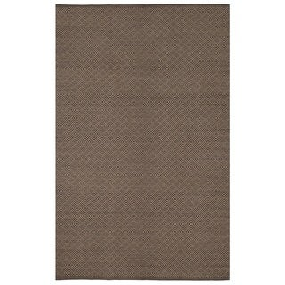 Karma Brown Geometric Area Rug (6' x 9')