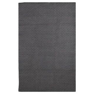 Karma Black and Grey Geometric Area Rug (6' x 9')