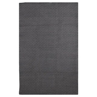 Karma Black and Grey Geometric Area Rug (5' x 8')