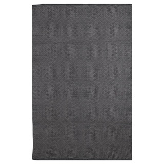 Karma Black and Grey Geometric Area Rug (3' x 5')