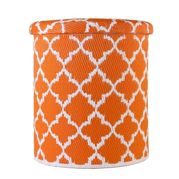 Shop Handmade Tangier Carrot And White Outdoor Storage