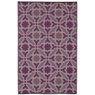 Handmade Seville Multicolor Purple Area Rug (India) - 6' x 9'