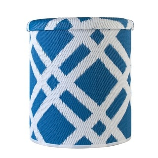 Dublin Blue Outdoor Storage Pouf (India)